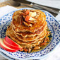 Whole Wheat Apple Spice Pancakes