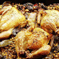 Donna Hay's Roasted Spatchcocks with Port, Mushrooms and Lentils