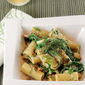 Battersby's Rigatoni with Brussels Sprouts, Bacon, and Arugula