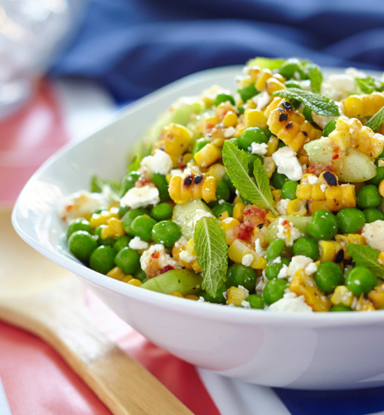 Simple Green Peas And Corn Salad Recipe By Shalina