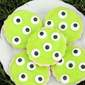 Spooky Monster Eye Sugar Cookies