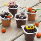 Halloween Pudding Cup Decorating Station for Kids