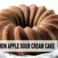 CINNAMON APPLE SOUR CREAM CAKE