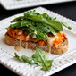 Sweet Potato Toast with Tahini Arugula Recipe