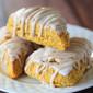Pumpkin Scones with Spiced Glaze