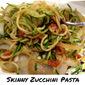 Skinny Zucchini Pasta ( Spiralized)