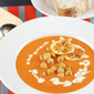 Rachel Khoo's Cream of Tomato Soup with Crunchy Lemon Chickpeas