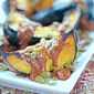 Roasted Acorn Squash with Easy Mole Sauce