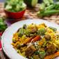 Mauritian Vegan Briyani with Okra and Soya Chunks (Textured Vegetable Protein)