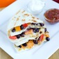 Black Bean and Bell Pepper Quesadilla #SundaySupper
