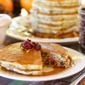 Cranberry-Orange Pancakes with Spiced Syrup