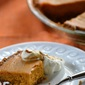 Pumpkin Pie with a Gingersnap Crust and Molasses Whipped Cream