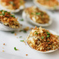 Baked Clams with Wasabi Bread Crumbs