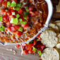 Hot Buffalo Wing Cheddar Chili Dip