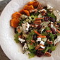 roasted squash, pecan, and cranberry chopped salad