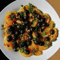 Orange & Black Olive Salad