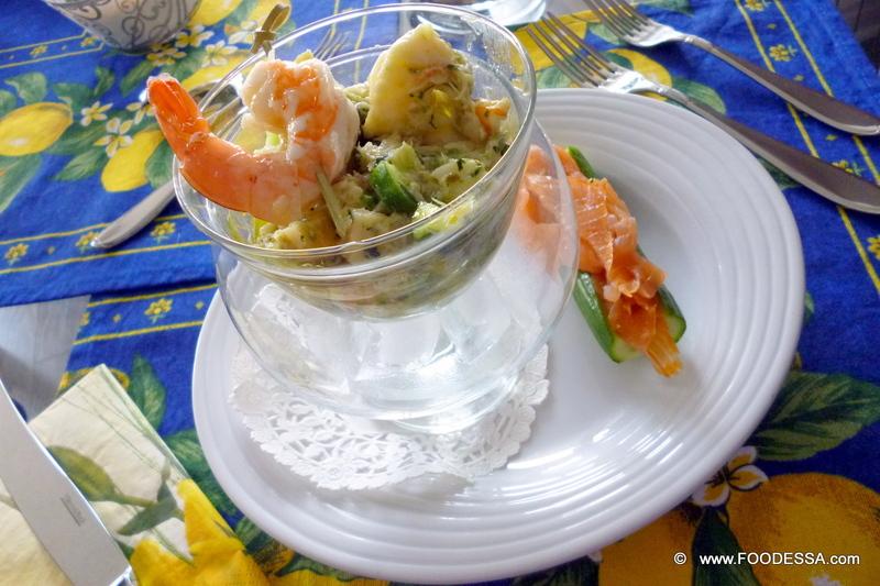 Festive fish seafood salad recipe by claudia cookeatshare for Fish salad recipes