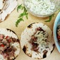 Blackened Tuna Tacos with Creamy Dill Slaw