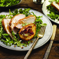 Roasted Turkey Breast with Gorgonzola, Baked Pears and Toasted Pecans