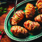 Hasselback Potatoes Stuffed with Cheddar and Bacon