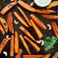 Sweet Potato Fries with Spicy Cashew Dipping Sauce