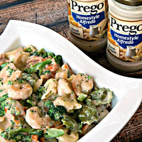 Shrimp & Broccoli Alfredo Tortellini
