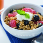 Quinoa Grapefruit Blueberry Breakfast