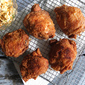 Iced Tea-Brined Fried Chicken with Jalapeño Slaw