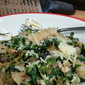 Wheat Gnocchi with Caper Pesto Spinach and Sardines