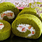 Matcha Strawberry Roll Cake (Japanese Swiss Roll Recipe) - Video Recipe