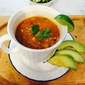 Chicken Chili Soup with Fresh Lime