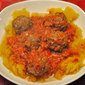 Spaghetti Squash with Ginger Meatballs