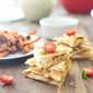 BBQ Chicken Quesadillas and Sweet Potato Fries