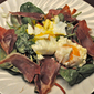 Spinach Salad with Poached Eggs; the art of poaching eggs