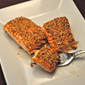Sesame-Crusted Salmon, the olden days