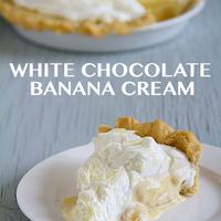 White Chocolate Banana Cream Pie is a Sugar Pie Recipe by ...