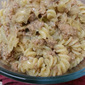 Ground Turkey and Fusilli Sauerkraut Skillet