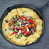 White Cheddar Grits with Veggies