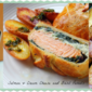 Salmon + Cream Cheese & Basil Parcel