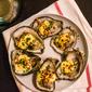 Stephanie Izard's grilled oysters with horseradish aioli.