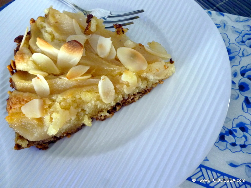 ALMOND cream PEAR pie GRANOLA crust Recipe by Claudia ...