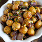 Roasted Potatoes & Onions with Blue Cheese