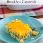 Crock Pot Sausage Breakfast Casserole #CrockPotFriday