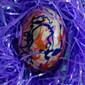 Splatter Painted White Chocolate Easter Eggs