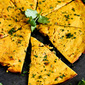 Indian Spiced Chickpea Flatbread {Socca}