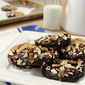 Chocolate Dipped Peanut Butter Cookies with Pretzels