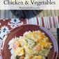 Crock Pot Cheesy Chicken Vegetables #CrockPotFriday