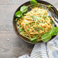 Linguine with Brown Butter, Parmesan, Peas and Mint