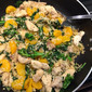 Chicken and Rapini Skillet with Mandarin Orange Sauce