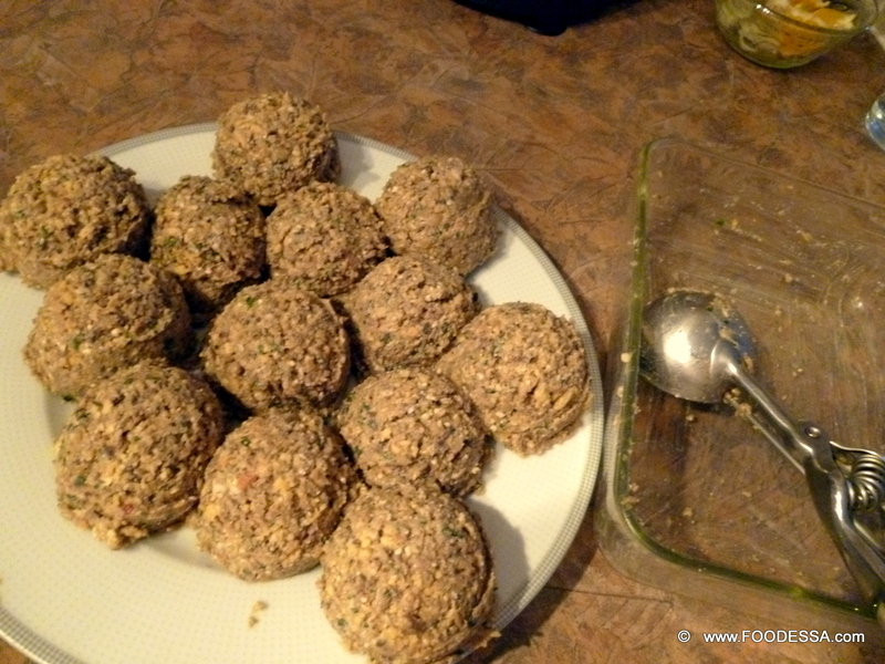 LENTIL and MUSHROOM mix Meatball Patties {baked} Recipe by Claudia ...